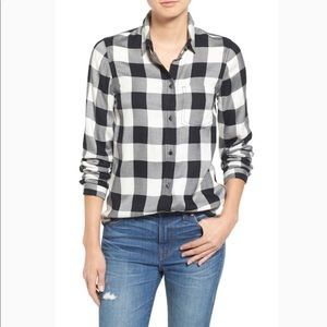 Madewell Ex-Boyfriend slim buffalo check shirt S